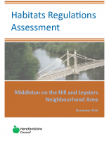 Regulation 14 Neighbourhood Plan Habitats Regulation Assessment December 2016